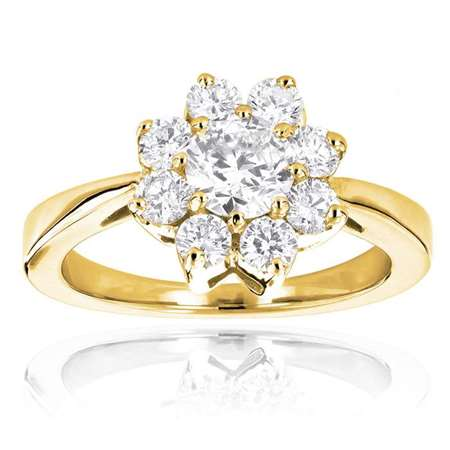 diamond cluster rings 14k diamond flower ring 130ct p 35844 ye Copy Copy