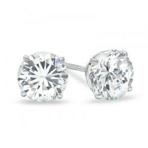 round cubic earring